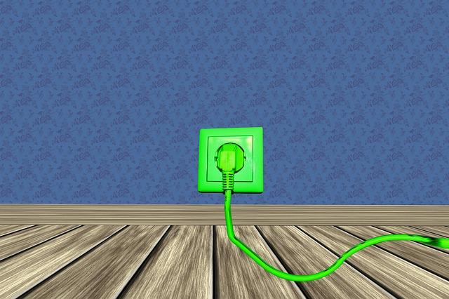 zelená zástrčka