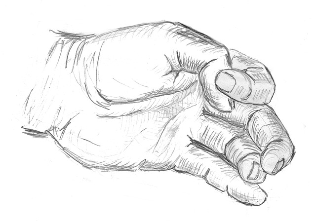 skica ruky