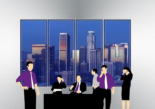 výhled na mrakodrapy