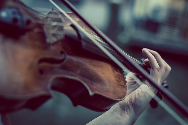 hraní na housle